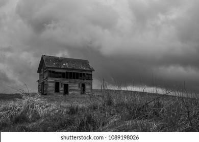 Old Abandoned Countryside Barn