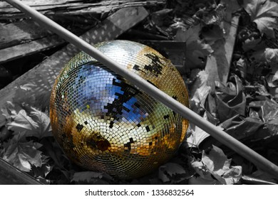 Old abandoned disco ball