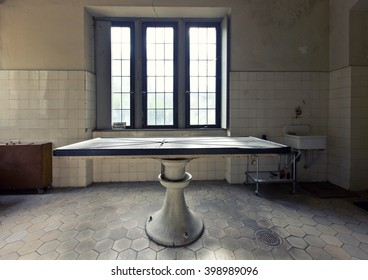 Old abandoned dissecting table