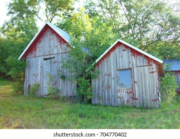 old abandoned farm buildings