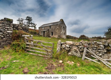 An old abandoned farm cottage near Brown Willy on Bodmin Moor in Cornwall