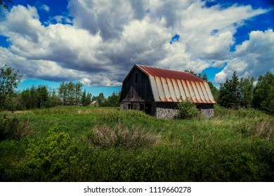 Old abandoned farm in rural America.