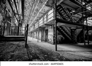Old and abandoned government prison