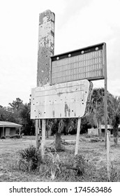 old abandoned hotel motel buildings in the pan handle of Florida near swamp land of the Gulf of Mexico