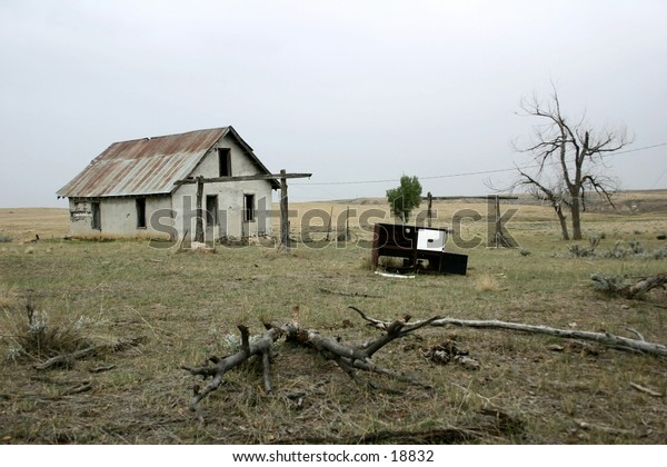 old, abandoned house