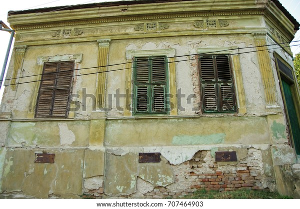 Old Abandoned House Beautiful Old Windows Stock Photo Edit