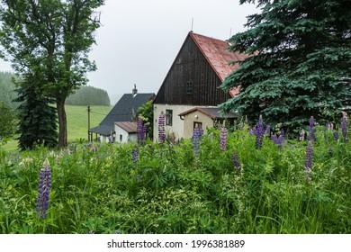 old abandoned house in czech hillside in krusne hory - Shutterstock ID 1996381889