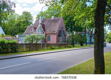 old abandoned house on the street of city