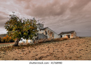 old and abandoned house in spain