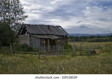 Old abandoned house in the abandoned village