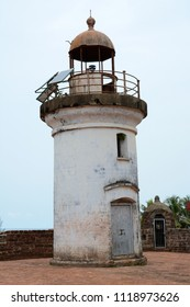 An old abandoned lighthouse at Tellicherry Fort in Thalassery a town in Kannur District of Kerala, India.