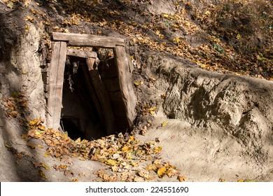 Old abandoned mine entrance