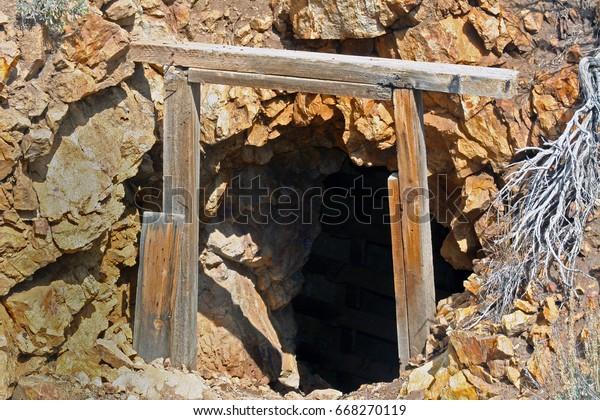 Old Abandoned Mine Shaft Entrance Stock Photo (Edit Now) 668270119