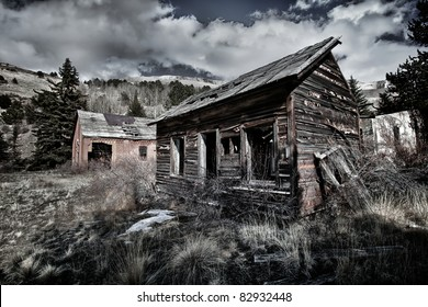 old abandoned miner house in Colorado