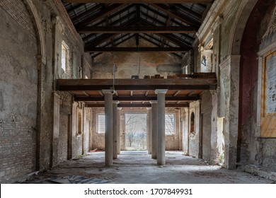 Old abandoned monastery in the countryside