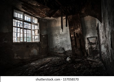 old abandoned office interior