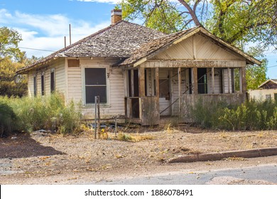 Old Abandoned One Level House In Disrepair