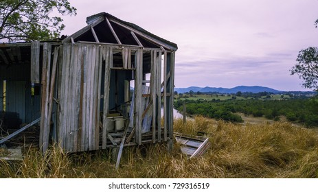 Old abandoned outback farming shed in Queensland