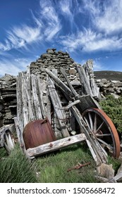 An old abandoned outhouse on Carcass Island on the Falklands