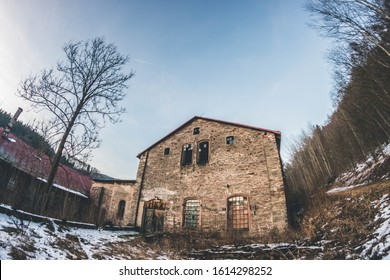 Old abandoned paper mill in Czechia
