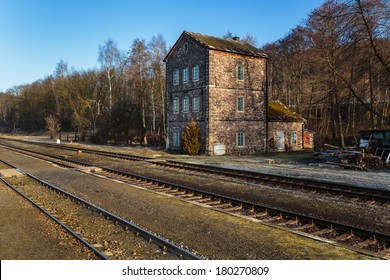 Old abandoned railway building in North Bohemia (Hodkovice nad Mohelkou)