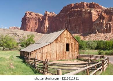 Old abandoned ranch house near Grafton, Utah