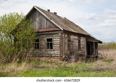 old abandoned rural house in the Russian village