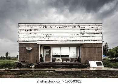 An old abandoned store in a ghost town