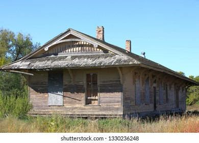 old abandoned train depot