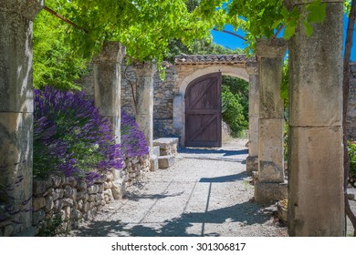 The old abbey of St.Hilaire near the village Lacoste in Provence