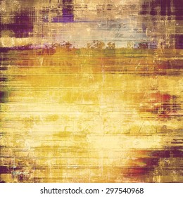 Old abstract grunge background, aged retro texture. With different color patterns: yellow (beige); brown; gray; purple (violet)