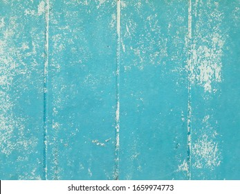 Old acrylic blue and white color on cement texture for background.