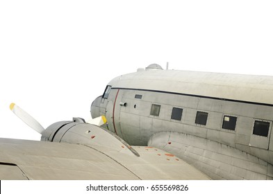 Old Aeroplane Isolated On White Background
