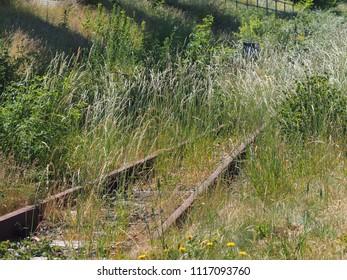 old aged train lines, unused