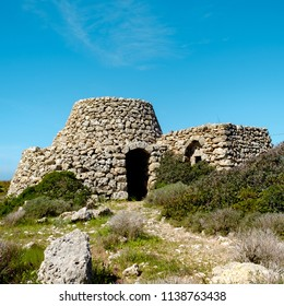 Old Agricultural House built with stones called Pajara in Salento, South Italy, Lecce, Italy