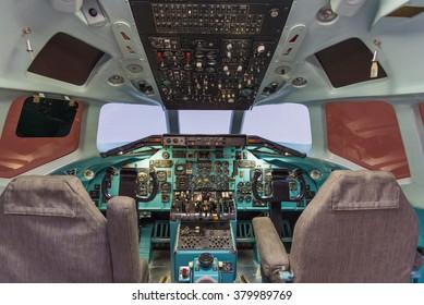 Old Aircraft Cockpit