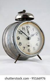 old alarm clock, studio shot