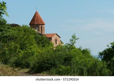Old Albanian Christian church in Gakh, Azerbaijan. 2013th year.