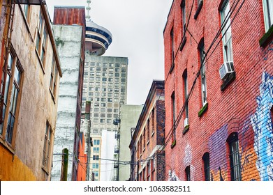 Old alley in the downtown core of Vancouver, B.C. Canada