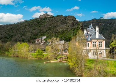 Old Ambialet village on Tarn river, France