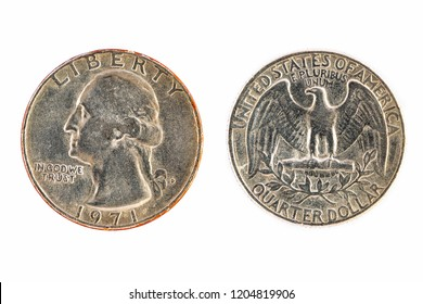 Old America quarter dollar coins through the use of trading for so long, but still beautiful.
