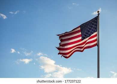 old American flag