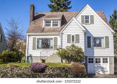 old American suburban house