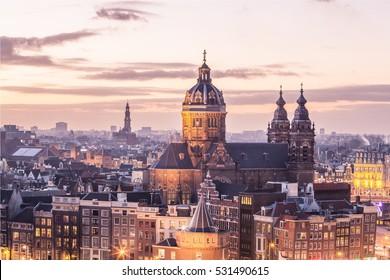 Old Amsterdam landmark