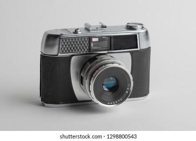 old analog camera, isolated on white background,