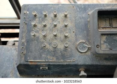 old analog control panel board vintage
