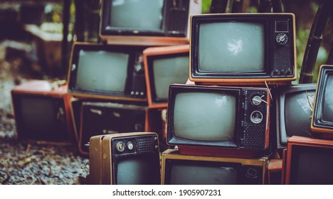 Old Analog Television Vintage Collection