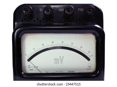 Old analogue voltmeter.
