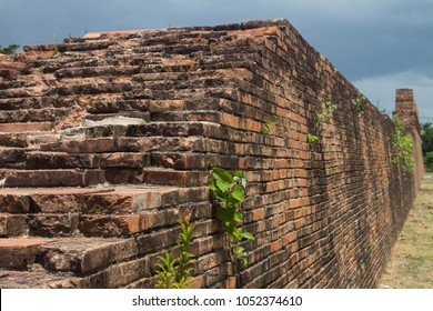 Old ancient city wall of Nakhon Si Thammarat city in the south of Thailand