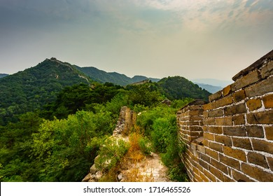 An old and ancient part of the Great Wall of China.